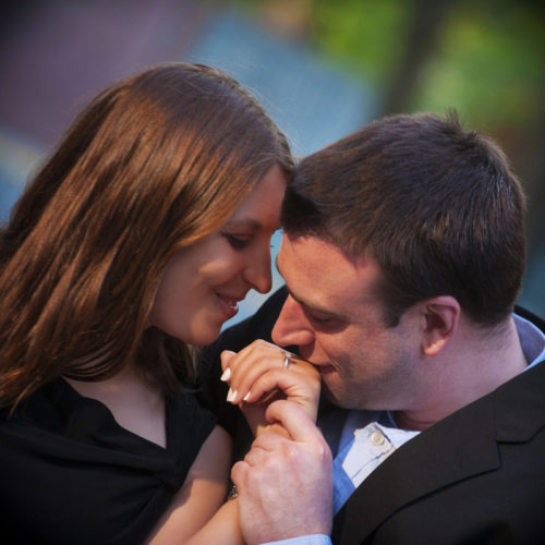 tighter detail of engagement shoot