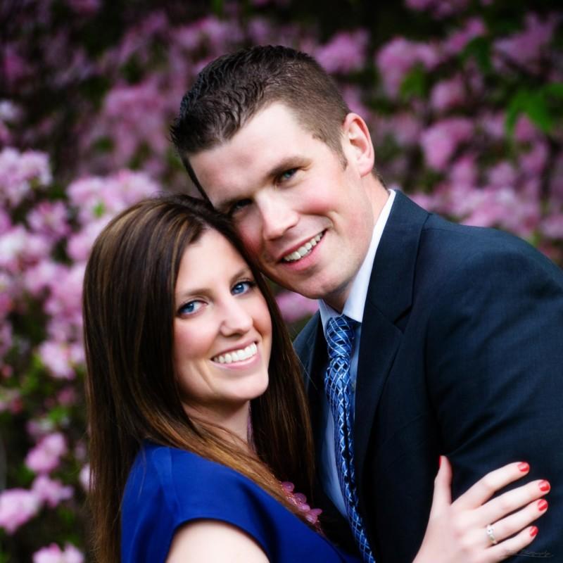massachusetts engagement picture at arnold arboretum