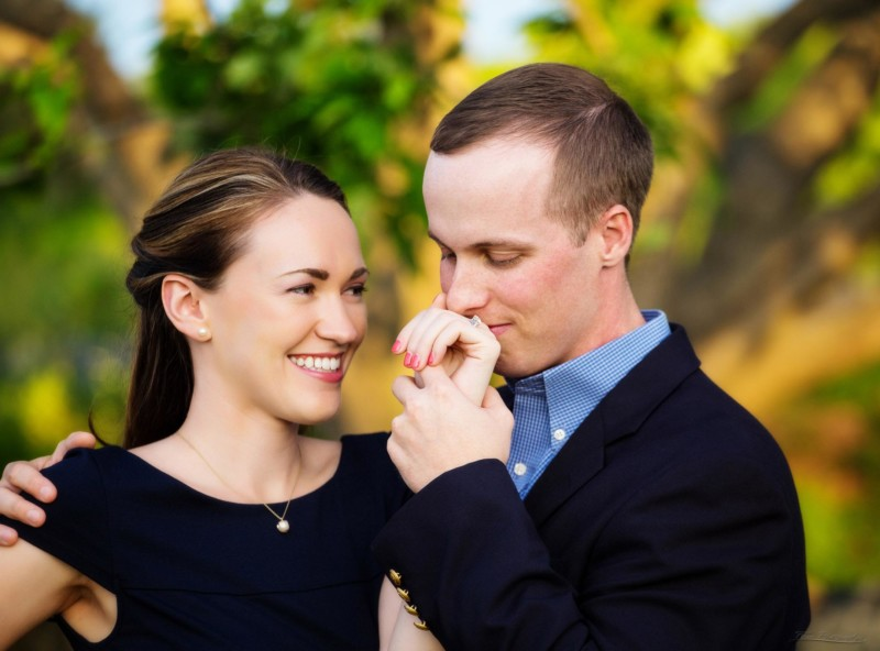engagement photo of couple prince charming
