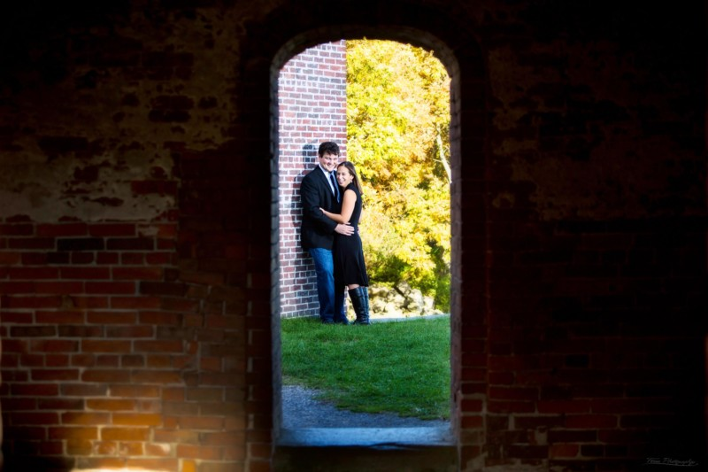 engagement picture through keyhole