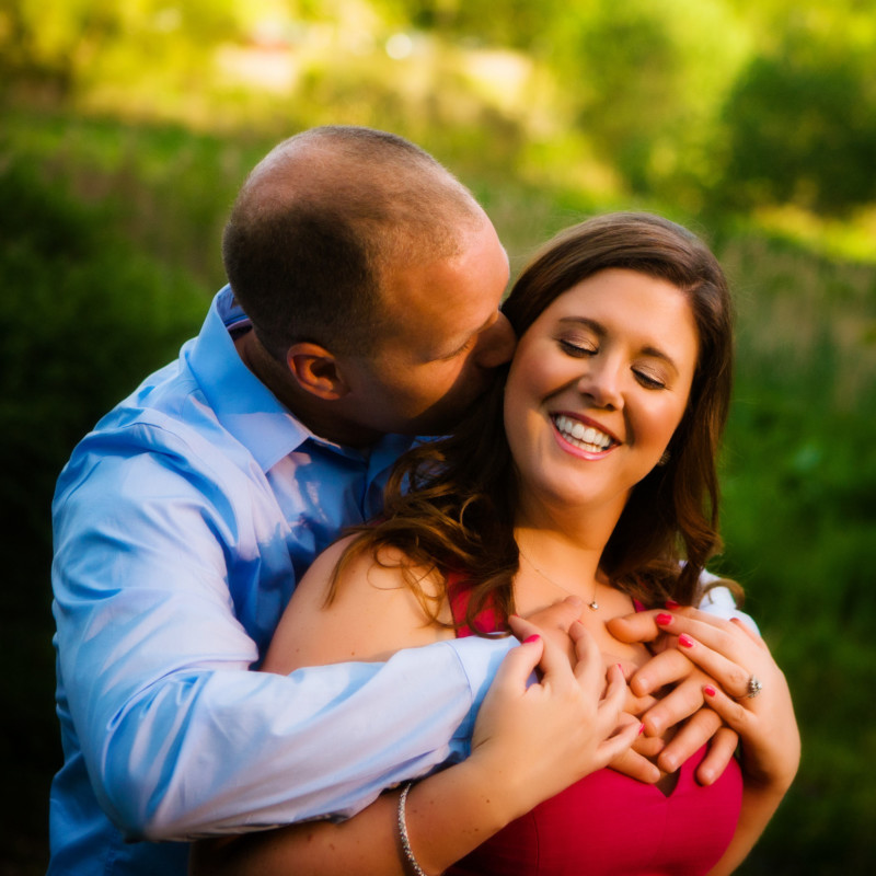 couple in engagement pose