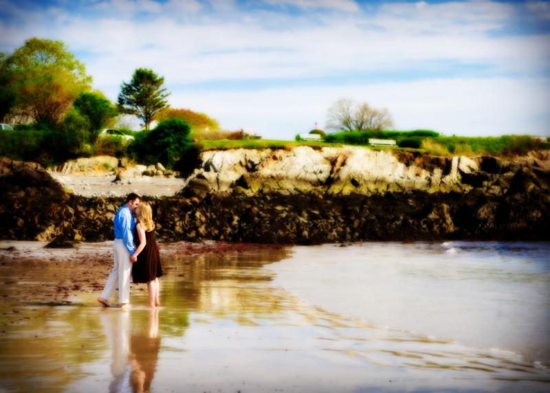 kennebunkport beach engagement photoshoot