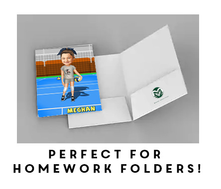 Homework/School Folders (Set of 5)