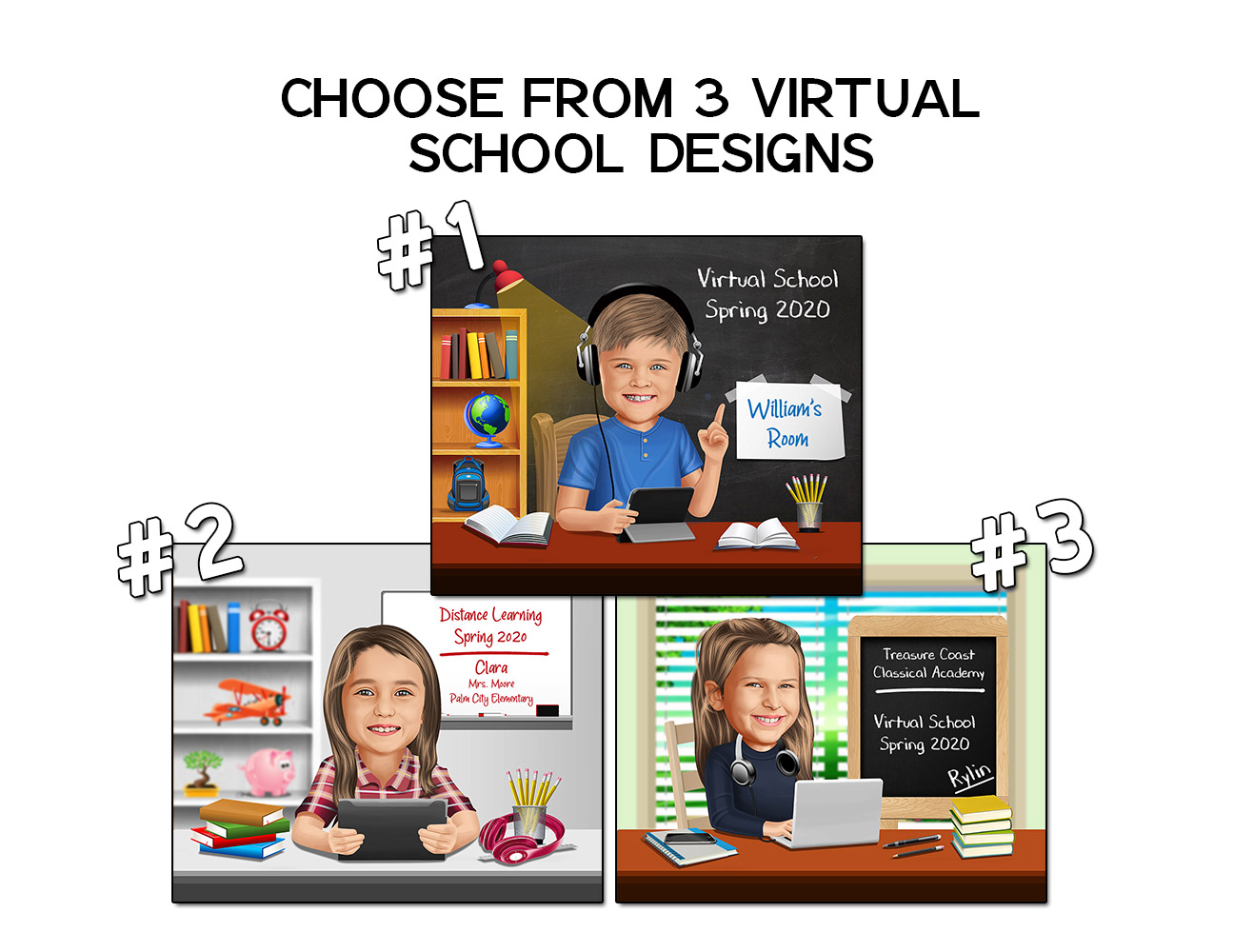 Order your Spring 2020 Virtual School Kidcature | 3_virtual_designs_choose.jpg