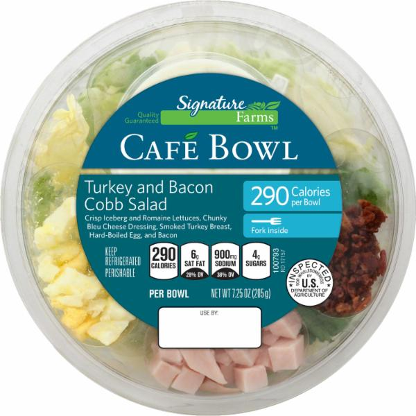 Smartlabel Signature Farms Cafe Cowl Turkey And Bacon Cobb Salad 021130336722