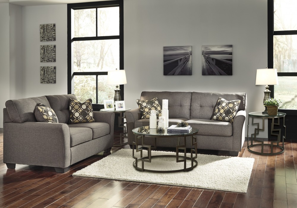 Tibbee - Slate - Sofa & Loveseat | 99101/38/35 | Living Room Groups ...