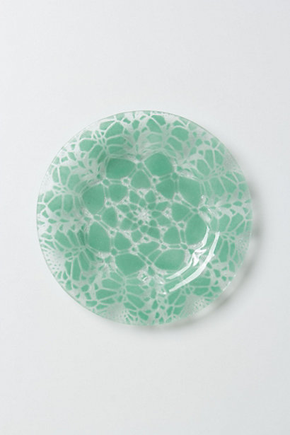 Frosted Doily Dessert Plates