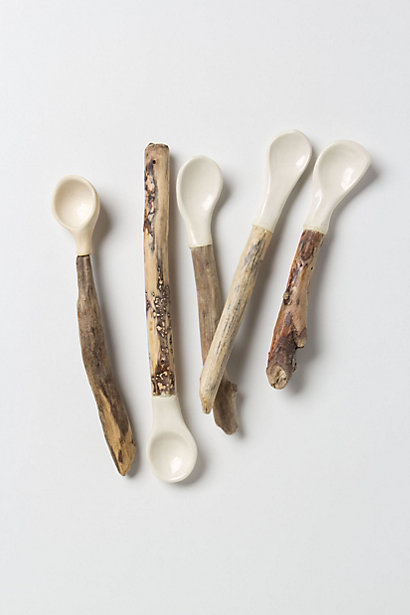 Hand Carved Bungalow Spoon