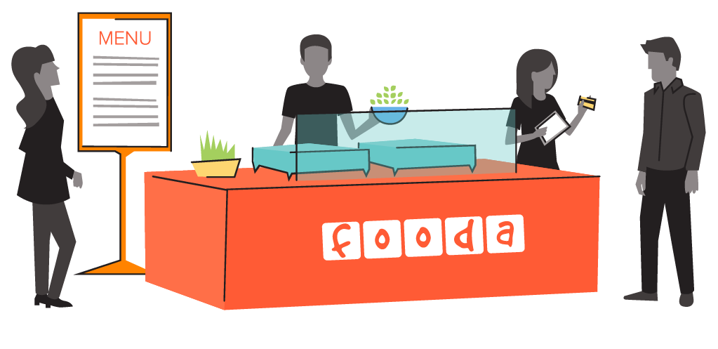 Fooda Popup Illustration