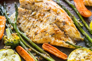 Zucchinied Crushed Tilapia (Fresh And Easy )