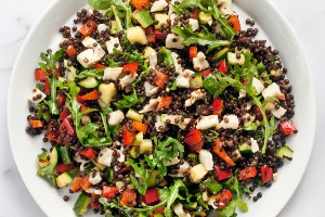 Zucchinied Lentil Salad (The Fresh 20)