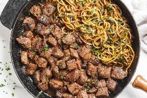 Zucchinied Sirlion Steak (Prepared)