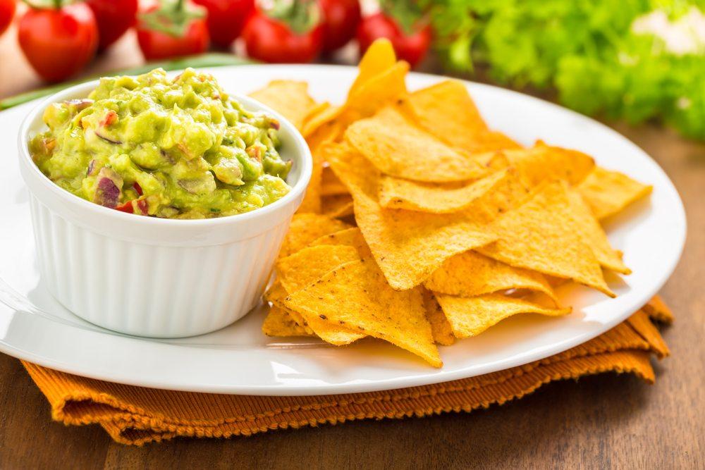 corn chips guacamole