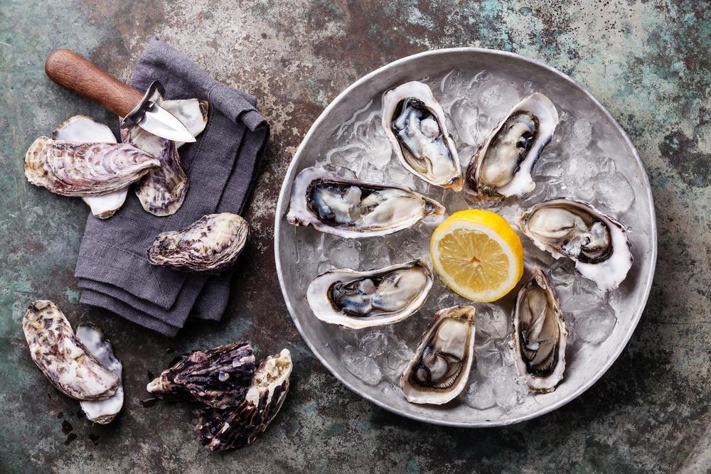 raw oysters shellfish