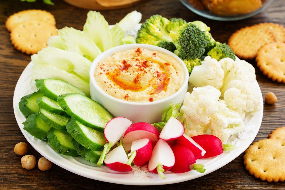 hummus raw vegetables