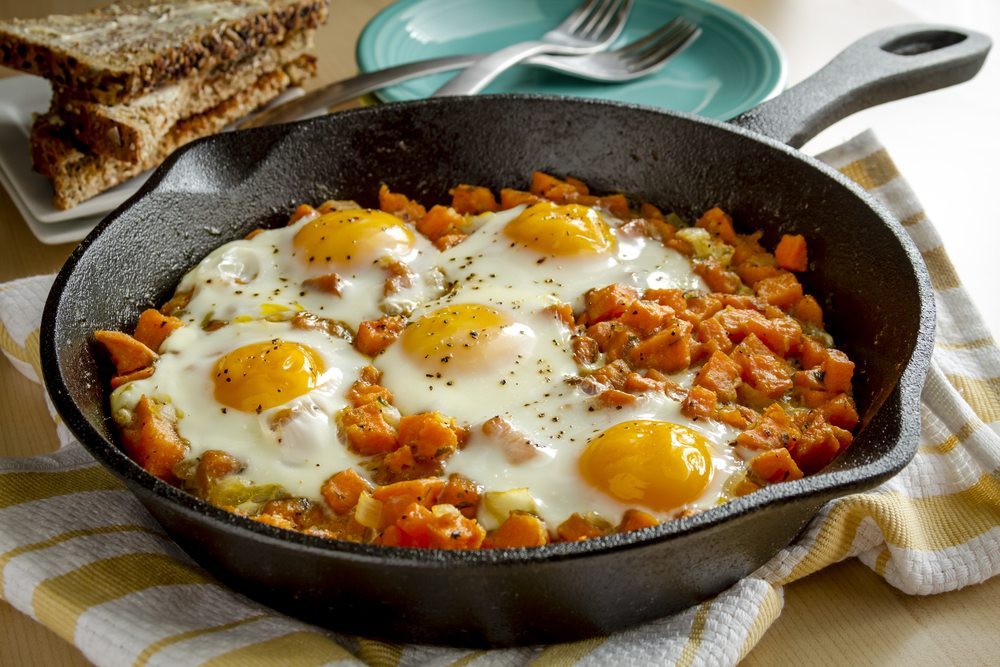 sweet potato hash egg skillet