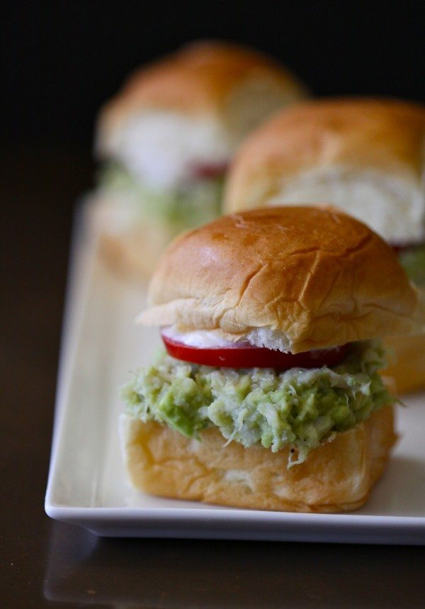 avocado crab sliders climing grier mountain