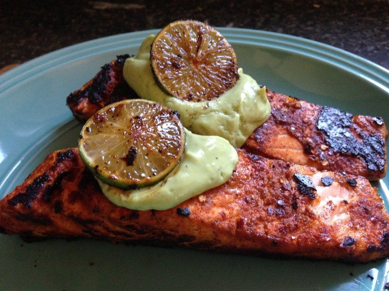 avocado salmon