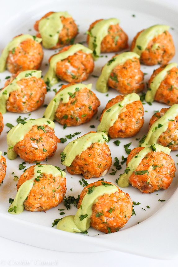 baked salmon meatballs cookincanuck
