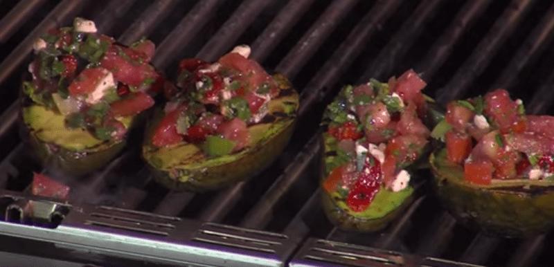 grilled mediterranean avocados