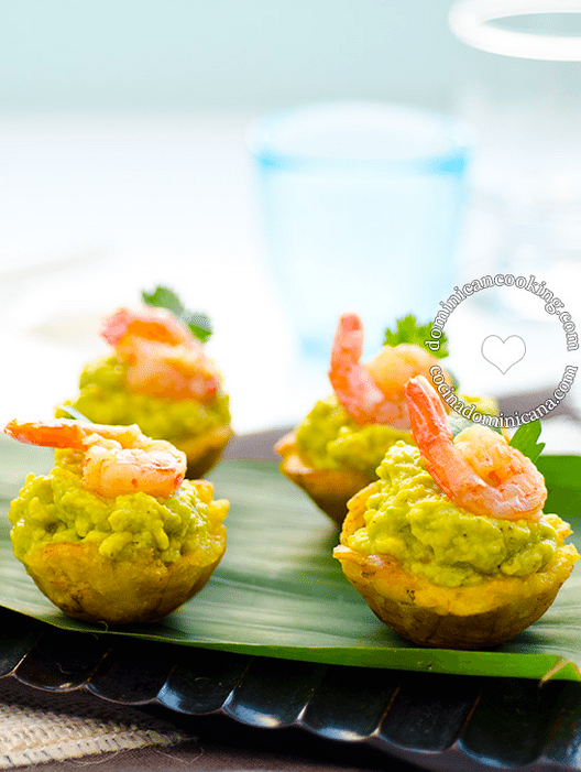 plantain cups avocado shrimp dominican cooking