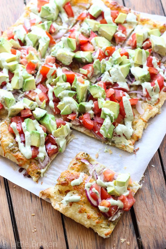 skinny avocado pizza littlebroken