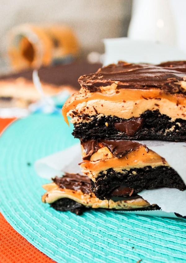 snickers brownie bars food charlatan
