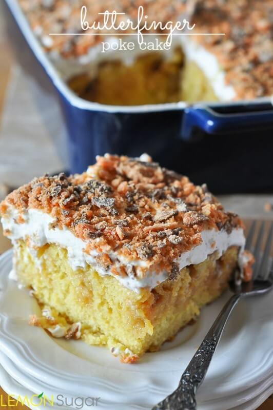 Butterfinger-Poke-Cake