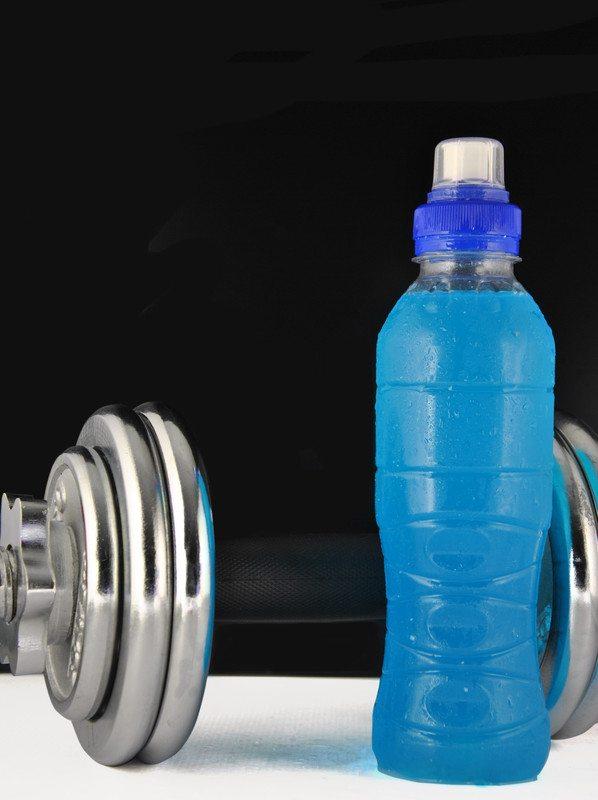 Blue sports drink