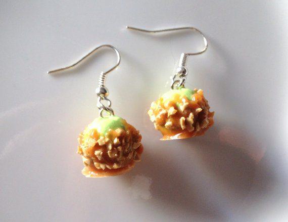 Caramel Apple Earrings