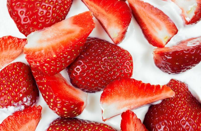 Strawberries and Yogurt