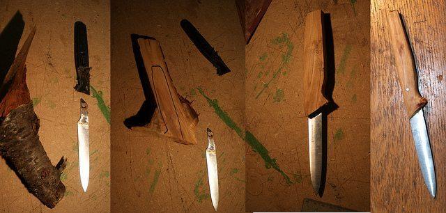 half tang knife