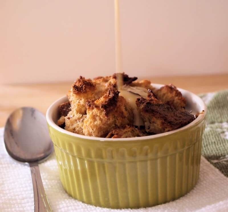 Bread Pudding with Whiskey Butter Sauce