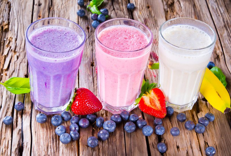Fruit-based protein smoothies