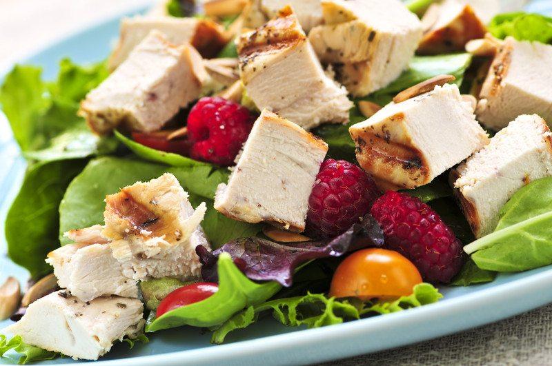 grilled chicken fruit salad