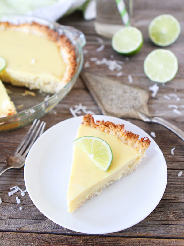 Key Lime Pie with a Coconut Macaroon Crust