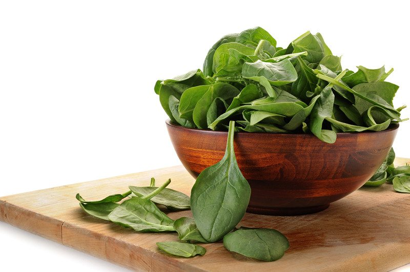 Spinach in a bowl