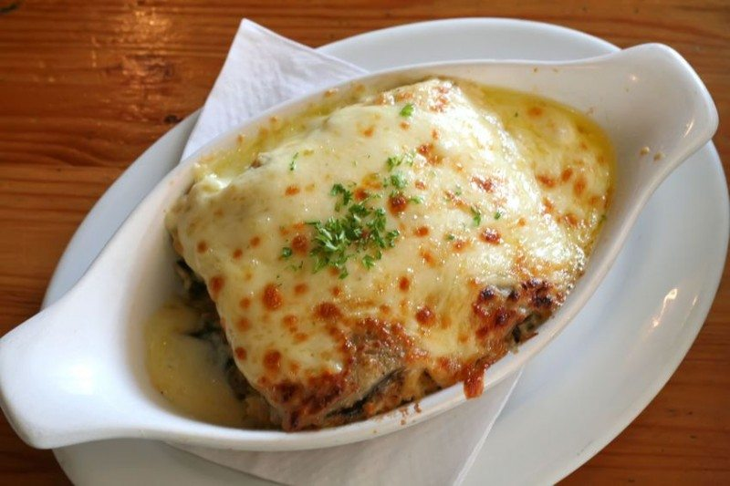 Cheesy Lasagna on a plate