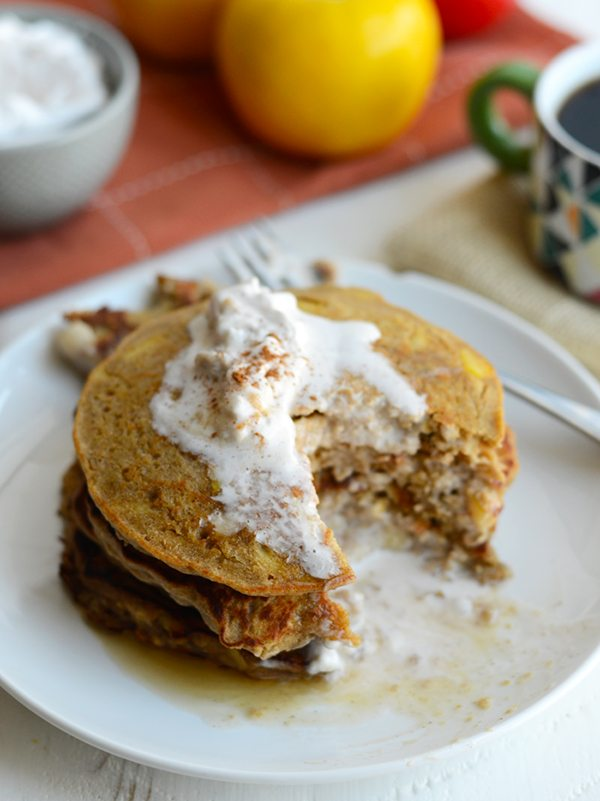 Apple-Cinnamon Oat Pancakes