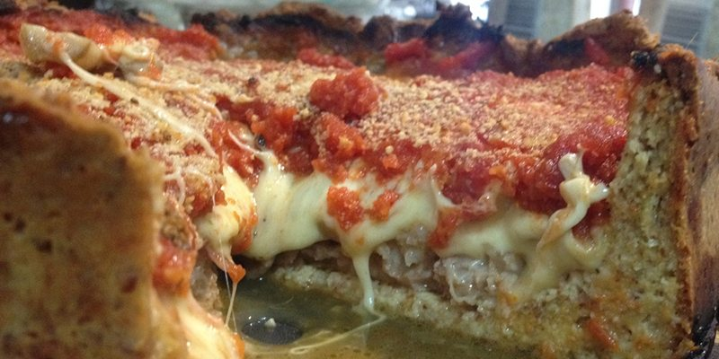 Chicago-Style Stuffed Pizza from EatKeto.com