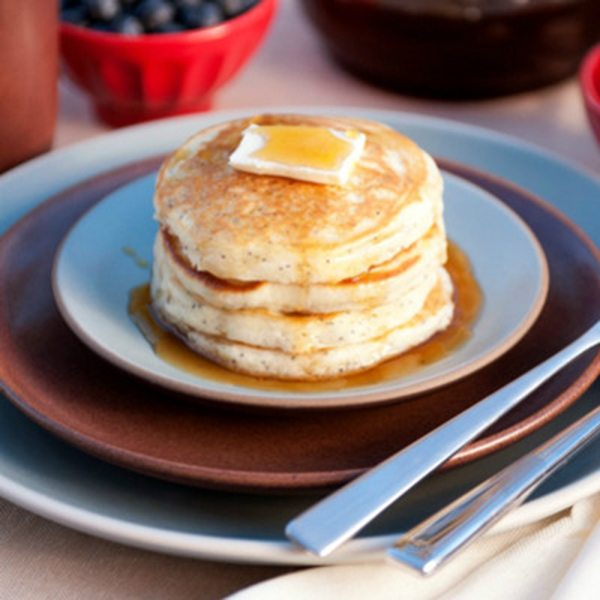 Gluten-Free Lemon Poppyseed Pancakes with a Cup4Cup Mix