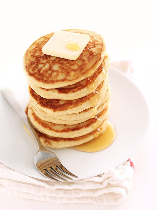 Hearty Gluten-Free Pancakes with a Homemade Blend of Flour