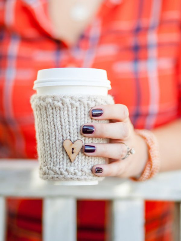 Knitted Travel Mug Warmer