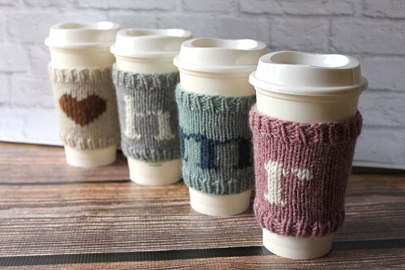 Monogram Coffee Cozy