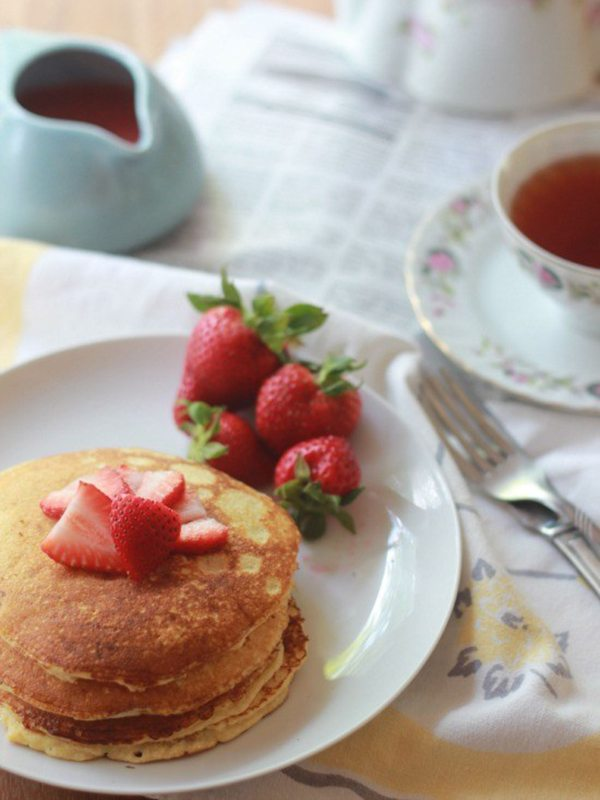 Paleo-Friendly Strawberry Shortcake Pancakes