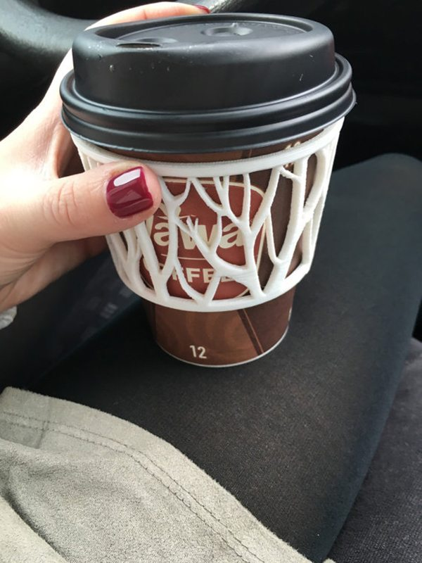 Plastic 3D Cutout Coffee Sleeve