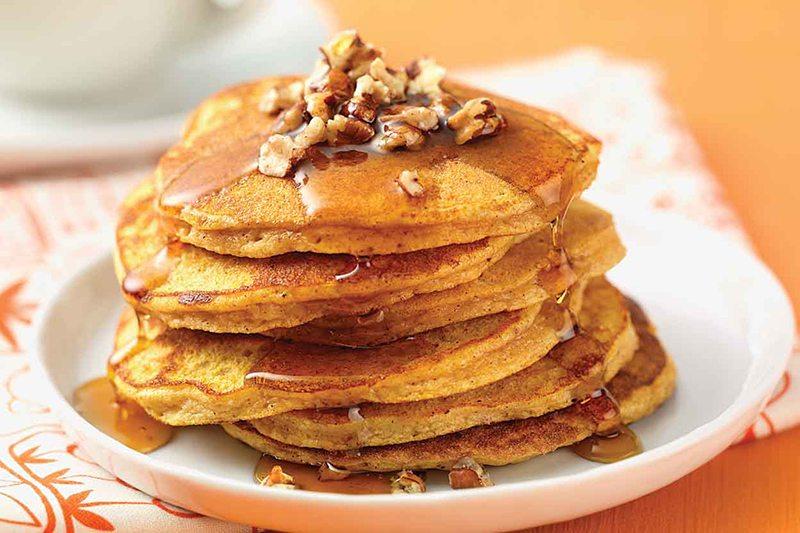 Pumpkin-Spice Coconut Flour Pancakes
