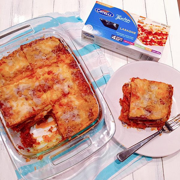 Sausage and Veggie Lasagna with Catelli Gluten-Free Pasta