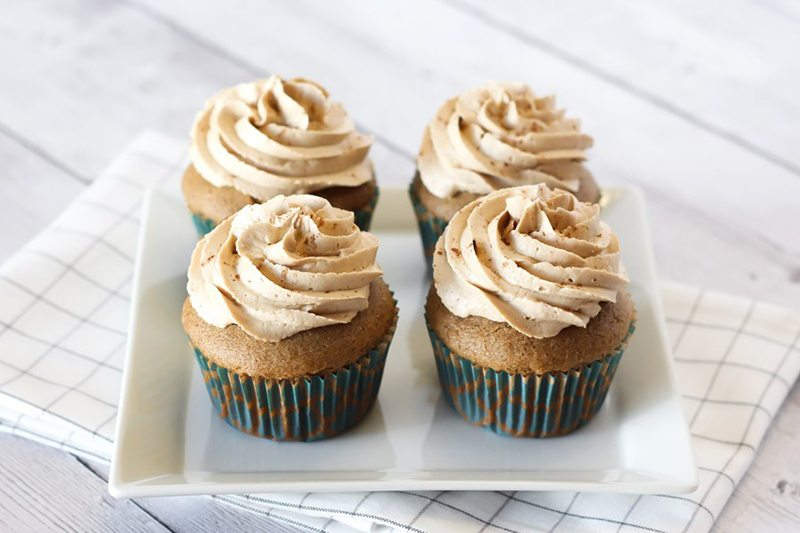 Vegan and Gluten-Free Dirty Chai Cupcakes