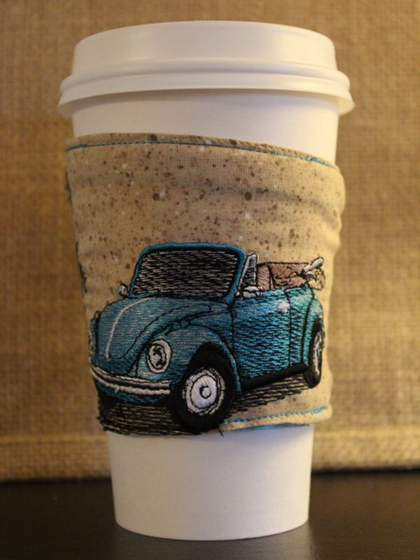 Volkswagon Beetle Coffee Sleeve